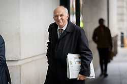© Licensed to London News Pictures. 17/09/2017. London, UK. Leader of the Liberal Democrats Vince Cable arriving at BBC Broadcasting House to appear on the Andrew Marr Show this morning. Photo credit : Tom Nicholson/LNP