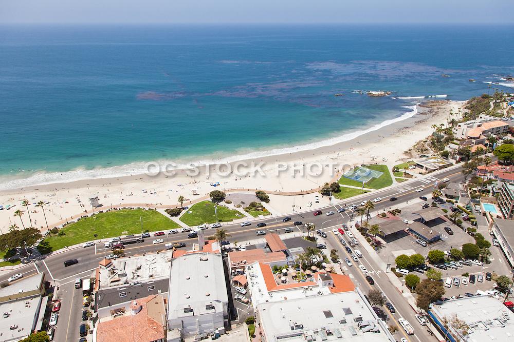 Laguna Main Beach Aerial Stock Photo