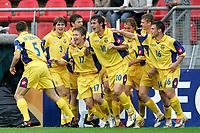 Fotball <br /> FIFA World Youth Championships 2005<br /> Nederland / Holland<br /> 11.06.2005<br /> Foto: ProShots/Digitalsport<br /> <br /> Ukraina v Panama 3-1<br /> Utrecht<br /> <br /> oekraine viert een treffer van aleksandr aliiev
