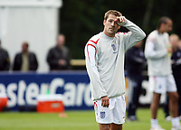 Photo: Chris Ratcliffe.<br />England training session. 06/06/2006.<br />Michael Owen hopes his form improves before Saturday.