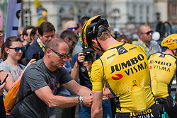 Mike Teunissen (NED) of Team Jumbo-Visma (NED,WT,Bianchi) in yellow jersey before stage 2 TTT from Bruxelles to Brussel of the 106th Tour de France, 7 July 2019. Photo by Pim Nijland / PelotonPhotos.com   All photos usage must carry mandatory copyright credit (Peloton Photos   Pim Nijland)