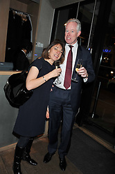 ADRIAN & GILL STONES attend the MARC Restaurants Truffle Dinner hosted by Marlon & Nadya Abela at Cassis, 232-236 Brompton Road, London on 13th February 2013.