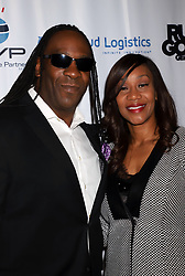 "Booker T, Sharmel Huffman arriving for the One Step Closer ""All In For CP"" celebrity charity poker event held at Ballys Poker Room, Ballys Hotel & Casino, Las Vegas, December 9, 2018"