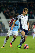Craig Dawson plays the ball during the The FA Cup match between West Bromwich Albion and Gateshead at The Hawthorns, West Bromwich, England on 3 January 2015. Photo by Alan Franklin.