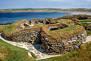 Skara Brae, 5000 year old village near Stromness, Main Island, Orkney Islands, Scotlant