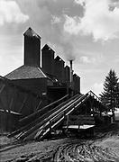 9969-2052. Study of hop dryers on Riverside Hop Farm, Newberg. September 16, 1935. Riverside Hop farm, owned by A.J. Ray and Son, Inc., Newberg, Oregon.