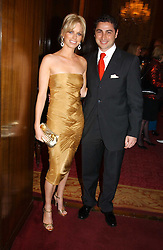 CEM & CAROLINE HABIB at a fashion show and dinner hosted by Shangri-la Hotels and Resorts and Andy Wong featuring fashion by new designer Lu Kun held at The Goldsmiths Hall, Foster Lane, London on 25th April 2005.<br /><br />NON EXCLUSIVE - WORLD RIGHTS