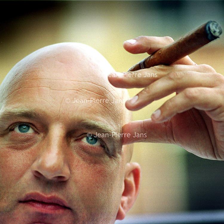 Nederland. Rotterdam. mei 2003.<br /> Chefkok Herman den Blijker.