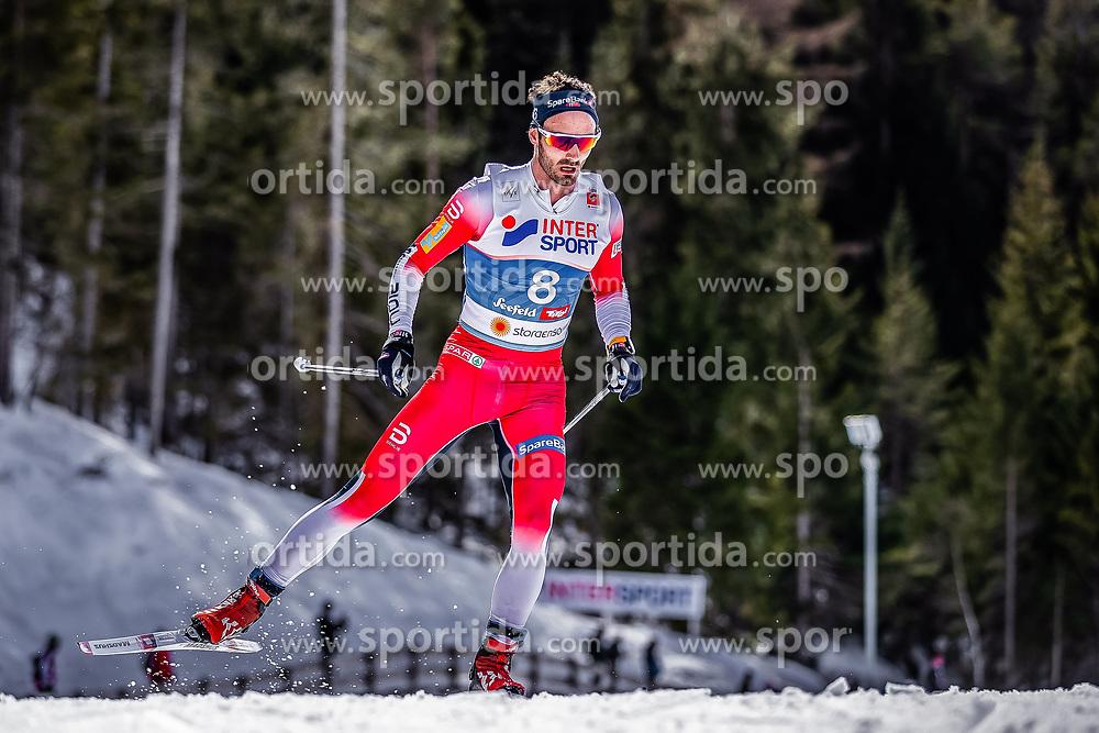 03.03.2019, Seefeld, AUT, FIS Weltmeisterschaften Ski Nordisch, Seefeld 2019, Langlauf, Herren, 50 km Massenstart, im Bild Hans Christer Holund (NOR) // Hans Christer Holund of Norway during the men's cross country 50 km mass start competition of FIS Nordic Ski World Championships 2019. Seefeld, Austria on 2019/03/03. EXPA Pictures © 2019, PhotoCredit: EXPA/ JFK