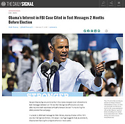 Barack Obama campaigning for Hillary Clinton in Philadelphia on September 13, 2016. Published in The Daily Signal on February 7, 2018.