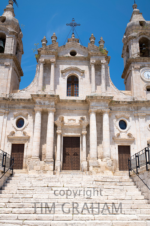 Ancient old stone Church of La Modena de Rosario in Palma di Montechiaro, Sicily, Italy