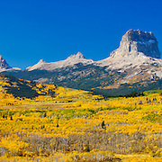 chief mountain fall colors, glacier national park from blackfeet reservation