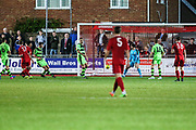 Worthing No17 scores his teams fourth goal during the Pre-Season Friendly match between Worthing FC and Forest Green Rovers at Woodside Road, Worthing, Uni on 1 August 2017. Photo by Shane Healey.