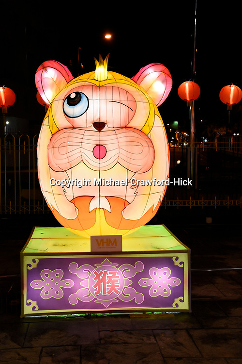 Monkey Lantern at Chinese New Year