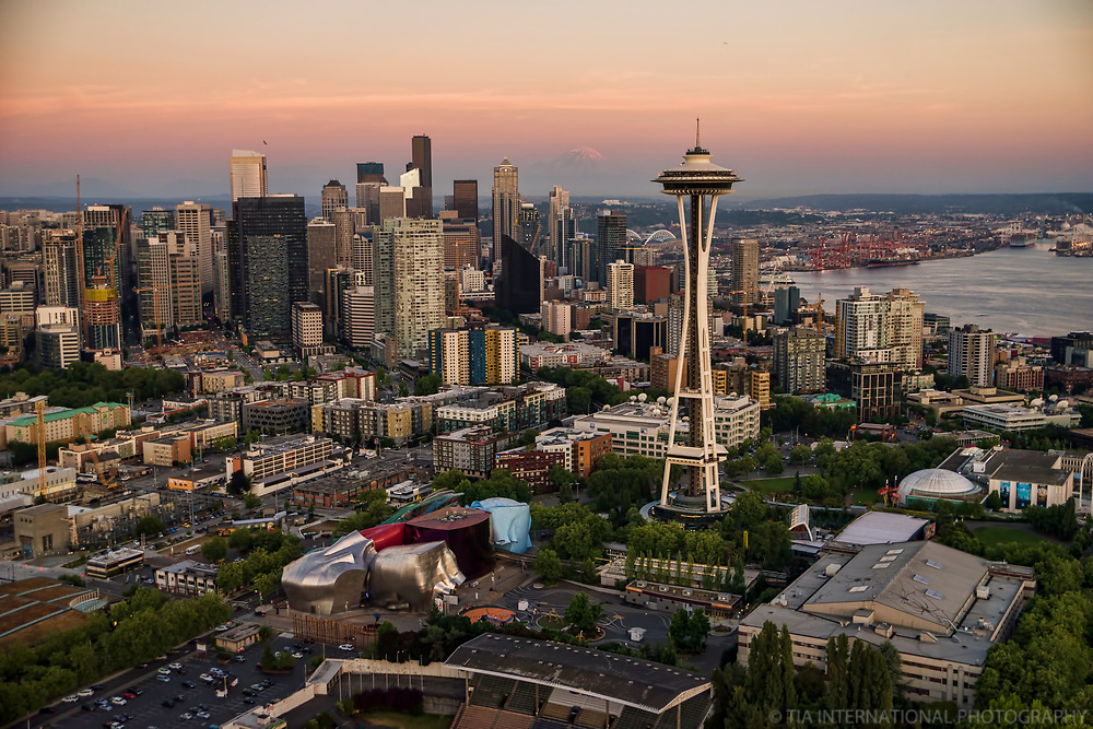 Seattle Center (foreground) & Downtown