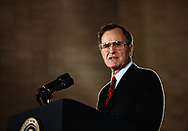 Washington, DC 1989/10/03  Presidetn G.H.W. Bush speaking.<br />Photo by Dennis Brack