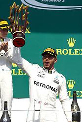 June 11, 2017 - Montreal, Canada - Motorsports: FIA Formula One World Championship 2017, Grand Prix of Canada, .#44 Lewis Hamilton (GBR, Mercedes AMG Petronas F1 Team) (Credit Image: © Hoch Zwei via ZUMA Wire)
