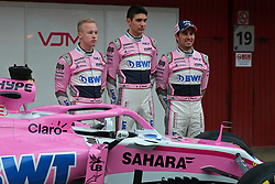 February 26, 2018 - Barcelona, Catalonia, Spain - presentation of the Force India team during the tests at the Barcelona-Catalunya Circuit, on 27th February 2018 in Barcelona, Spain. (Credit Image: © Joan Valls/NurPhoto via ZUMA Press)