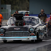 Steve Aldridge (2767) - Top Competition 1955 Chevrolet Belair.