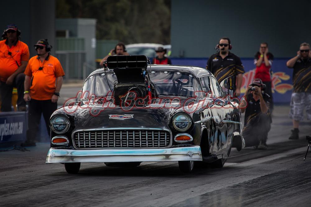 Steve Aldridge (2767) - Top Competition 1955 Chevrolet Belair.