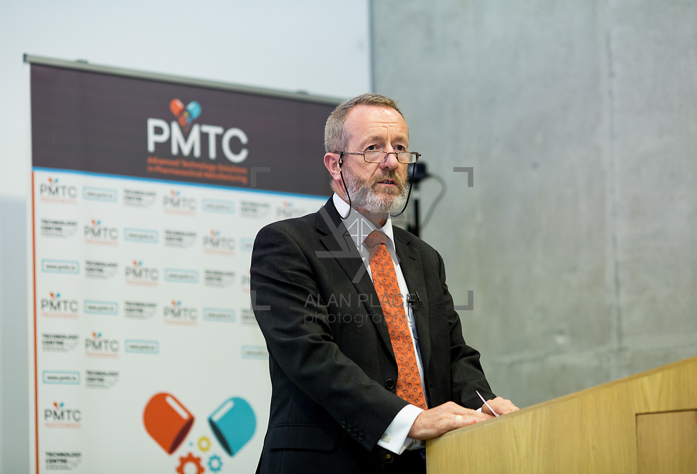 31.08. 2017.                                   <br /> Leaders in the pharmaceutical manufacturing sector in Ireland gathered at University of Limerick today for the third annual Pharmaceutical Manufacturing Technology Centre (PMTC) Knowledge Day.<br /> <br /> Pictured addressing the delegates was Sean Kelly MEP.<br /> <br /> The event provided a showcase for the cutting-edge research supported by the centre with key note addresses from industry thought leaders who shared their vision of the future for the pharmaceutical sector. Picture: Alan Place