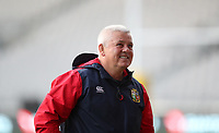 Rugby Union - 2017 British & Irish Lions Tour of New Zealand - Captains Run - <br /> <br /> Warren Gatland Head Coach of The British and Irish Lions laughs during the Captains run at Forsyth Barr Stadium, Dunedin.<br /> <br /> COLORSPORT/LYNNE CAMERON