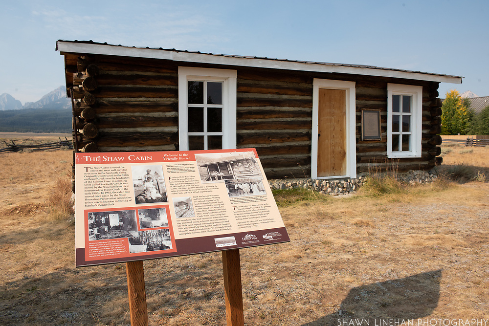 The Shaw House at Pioneer Park in Stanley, Idaho