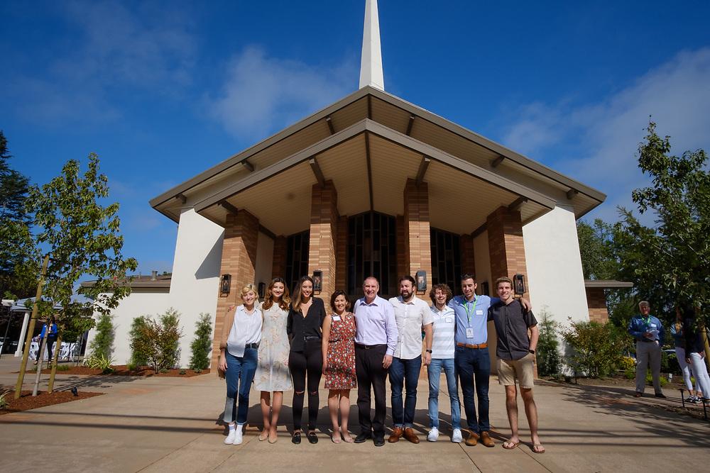 Menlo Park, Ca - August 19, 2018: Opening day, New Community Church, Menlo Park.