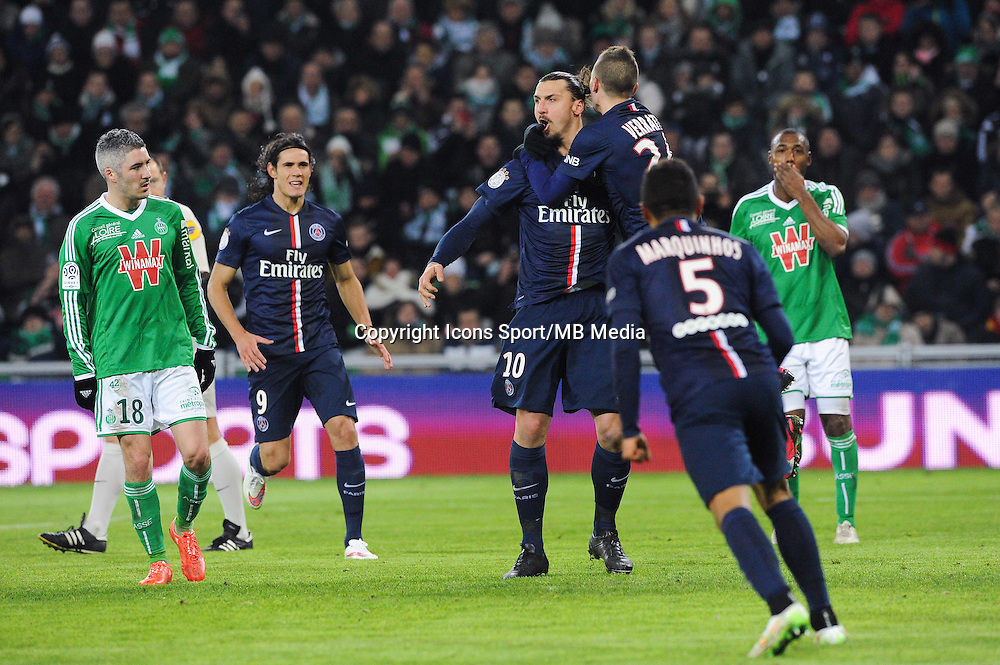 Zlatan IBRAHIMOVIC - 25.01.2015 - Saint Etienne / PSG - 22eme journee de Ligue1<br /> Photo : Jean Paul Thomas / Icon Sport
