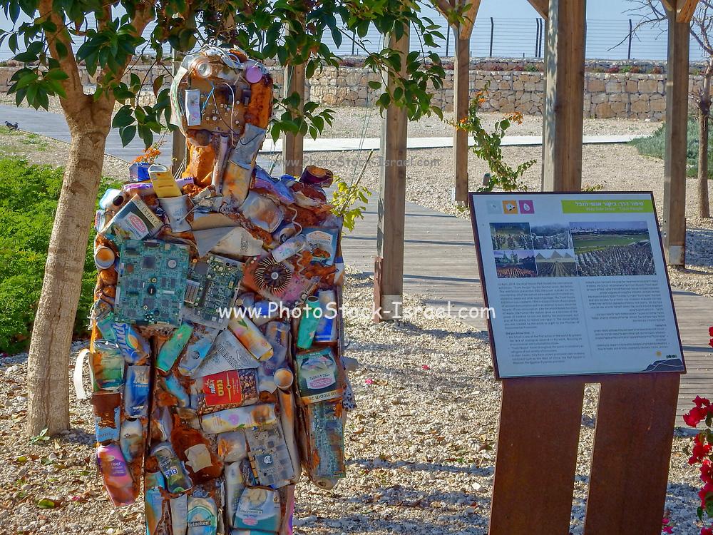 """Trash People"" exhibition at the Hiriya Recycling Park (by HA Schult ) Israel, Dan Region, Hiriya, Ariel Sharon Park"