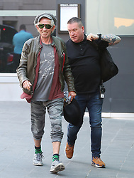 Keith Richards of The Rolling Stones turn up at the Manchester hotel on Sunday evening ahead of the gig at Old Trafford Football Stadium on Tuesday