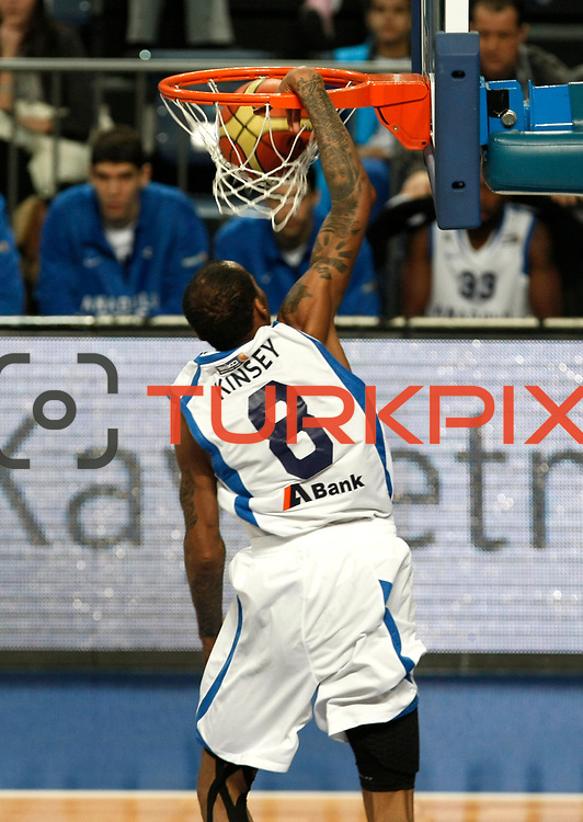 Anadolu Efes's Terence Kinsey during their Turkish Basketball League match Anadolu Efes between Olin Edirne at Arena in Istanbul, Turkey, Saturday, February 11, 2012. Photo by TURKPIX