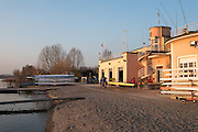 Varese. Lombardia. ITALY. General View.  Sun Set, Crewsreturning from afternoon Training on Lake/Lago Varies. [Varese Rowing Club]. [Canottieri Varese]<br /> <br /> Tuesday  03/01/2017<br /> <br /> [Mandatory Credit; Peter Spurrier/Intersport-images]<br /> <br /> <br /> LEICA CAMERA AG - LEICA Q (Typ 116) - 1/250 - f5.6