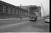 View of Belfast, Barricades - Falls Rd, Clonard.30/08/1969 bombay st, nationalists, homes burned, by British loyalists,