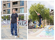 Lucy Adams at Stockwell Skatepark - I Am Team GB commission, summer 2021