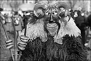 """Day Tripper - """"Busójárás Carnival"""" is a black and white reportage photo art  series by photographer Paul Williams taken in 16th Feb 2010 in Mohacs Hungary of the annual Busojaras parade .<br /> <br /> Visit our REPORTAGE & STREET PEOPLE PHOTO ART PRINT COLLECTIONS for more wall art photos to browse https://funkystock.photoshelter.com/gallery-collection/People-Photo-art-Prints-by-Photographer-Paul-Williams/C0000g1LA1LacMD8"""