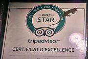 Laos. Luang Prabang. The Apsara hotel. Gecko on trip advisor certificate.