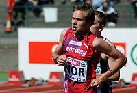 Friidrett<br /> 20. juni 2010<br /> Fana Stadion , Bergen , Norway<br /> European team championships<br /> 3000 M Men<br /> Sindre Buraas, NOR<br /> Foto : Astrid M. Nordhaug