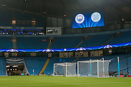 General view of the Etihad before kick off in the Champions League match between Manchester City and Celtic at the Etihad Stadium, Manchester, England on 6 December 2016. Photo by Mark P Doherty.