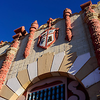 The historic facade of El Morro Theatre is one of several features on the proposed slate of restorations to the theater.