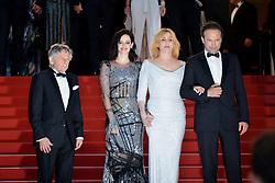 "70th Cannes Film Festival 2017, Red carpet film ""Based On A True Story"". Pictured:   Emmanuelle Seigner, Roman Polanski, Eva Green, Vincent Perez"
