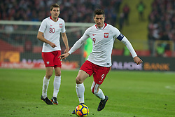 March 27, 2018 - Chorzow, Poland - Taras Romanczuk and Robert Lewandowski of Poland   during the international friendly soccer match between Poland and South Korea national football teams, at the Silesian Stadium in Chorzow, Poland on 27 March 2018. (Credit Image: © Foto Olimpik/NurPhoto via ZUMA Press)