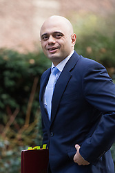 Downing Street, London, February 28th 2017. Communities and Local Government Secretary Sajid Javid attends the weekly cabinet meeting at 10 Downing Street in London.