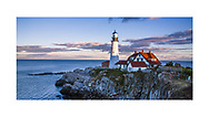 The classic of all classic New England Lighthouses, The Portland Head Light, or Portland Lighthouse, Cape Elizabeth, Maine, USA
