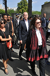 Jean-Claude Jitois during the funeral ceremony of French designer Sonia Rykiel at the Montparnasse cemetery in Paris, France on September 1, 2016. The 86 years old pioneer of Parisian womenswear from the late 1960's onwards, has died from a Parkinson's disease-related illness. Photo by Alban Wyters/ABACAPRESS.COM