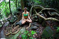 Ursula Jahara at Parque Lage, Rio do Janeiro