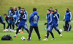 Argentina's Angel di Maria stretches - Mandatory by-line: Matt McNulty/JMP - 21/03/2018 - FOOTBALL - Argentina - Training session ahead of international against Italy