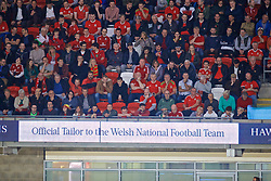 CARDIFF, WALES - Friday, September 6, 2019: Hawes & Curtis sponsorship during the UEFA Euro 2020 Qualifying Group E match between Wales and Azerbaijan at the Cardiff City Stadium. (Pic by Paul Greenwood/Propaganda)