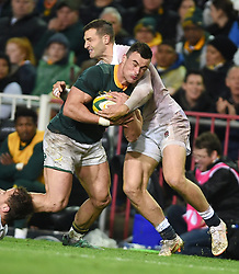 Cape Town-180623- Springbok player Jesse Kriel   tackled by Johnny May  of England  in the last game of the Castle Lager Test between Springboks and England at Newlands Stadium photographer:Phando Jikelo/African News Agency/ANA