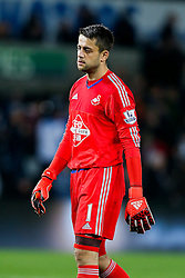 Lukasz Fabianski of Swansea City looks dejected after Stoke City win the match 0-1 - Mandatory byline: Rogan Thomson/JMP - 07966 386802 - 19/10/2015 - FOOTBALL - Liberty Stadium - Swansea, Wales - Swansea City v Stoke City - Barclays Premier League.